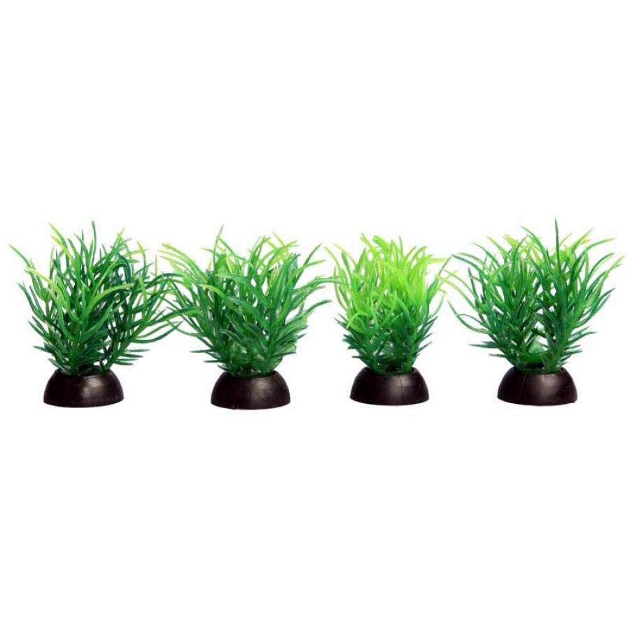 Aqua One Ecoscape Foreground Ricca Green Pack of 4 - Artificial Plant
