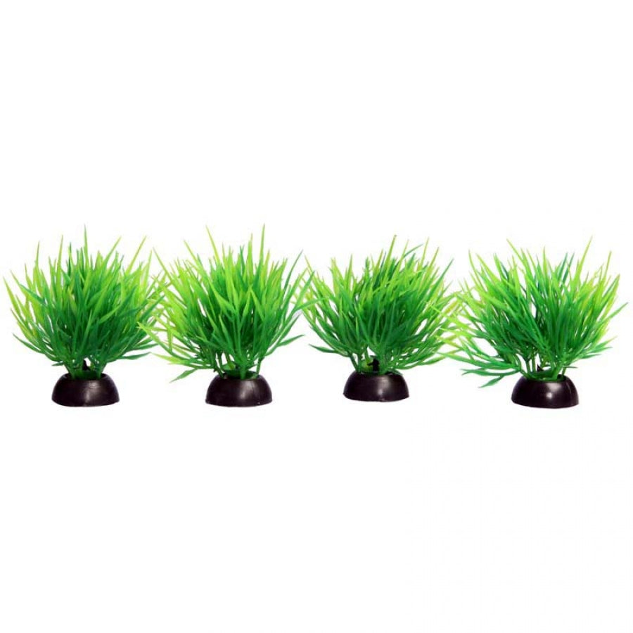 Aqua One Ecoscape Foreground Hair Grass Green Pack of 4 - Artificial Plant