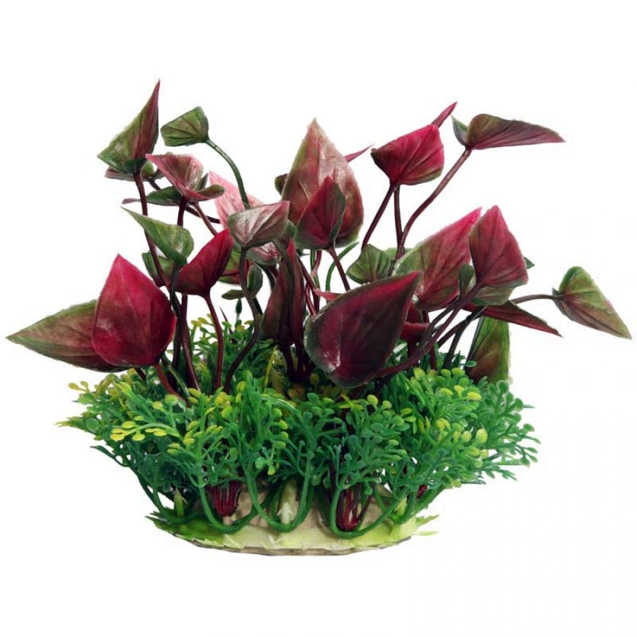 Aqua One Ecoscape Small Lily Red 10cm - Artificial Plant
