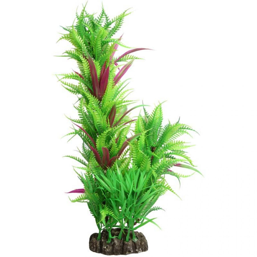 Aqua One Ecoscape Large Fern Column Green 30cm - Artificial Plant