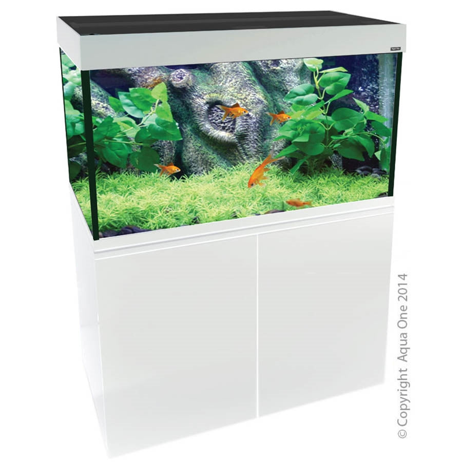 Aqua One Brilliance 120 Aquarium White - In Store Pick Up