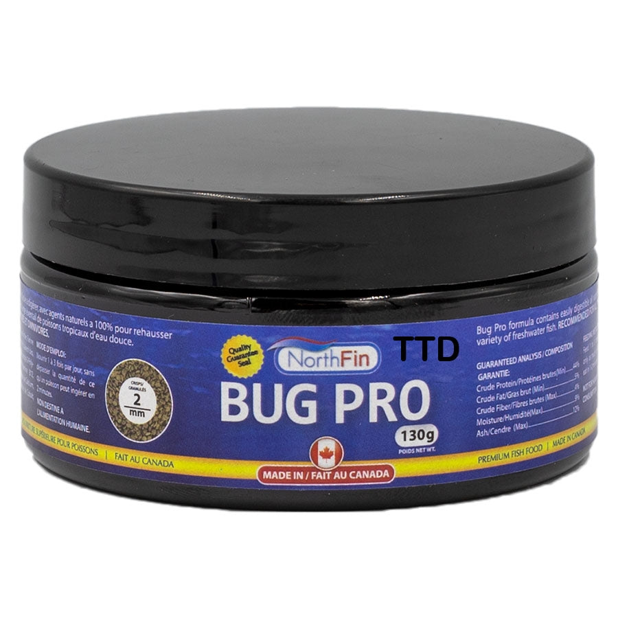 Northfin 130g Bug Pro Crisps 2mm Fish Food - Slow Sinking