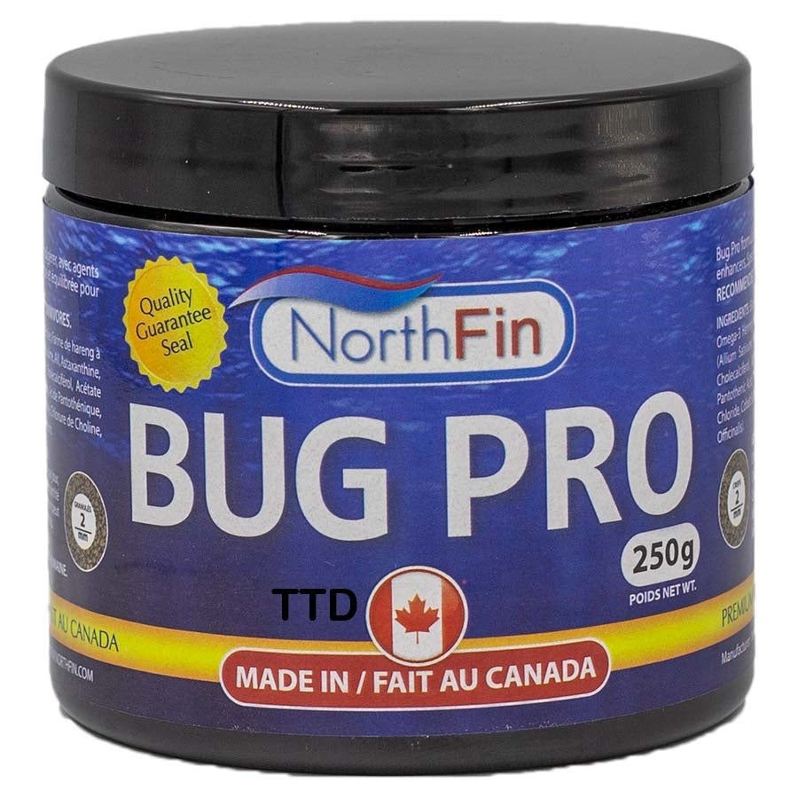Northfin 250g Bug Pro Crisps 2mm Fish Food - Slow Sinking