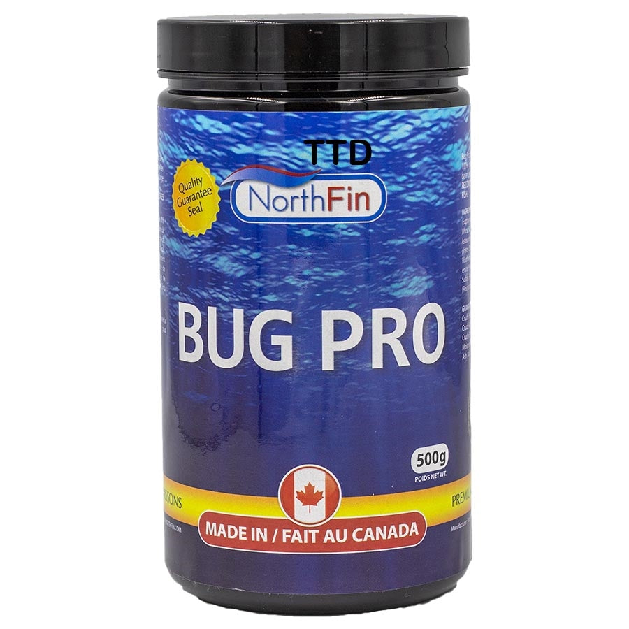 Northfin 500g Bug Pro Crisps 2mm Fish Food - Slow Sinking