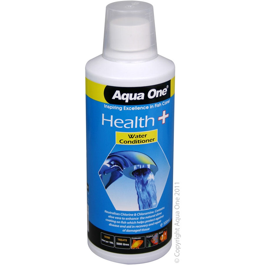 Aqua One Health Plus 500ml Tap Water Conditioner with Stress Coat