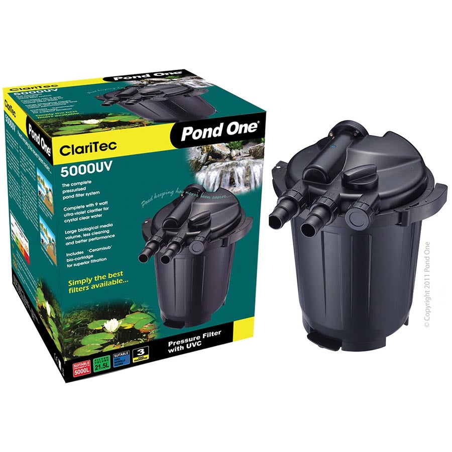 Pond One Claritec 5000UV Pressurised Filter with 9w UVC