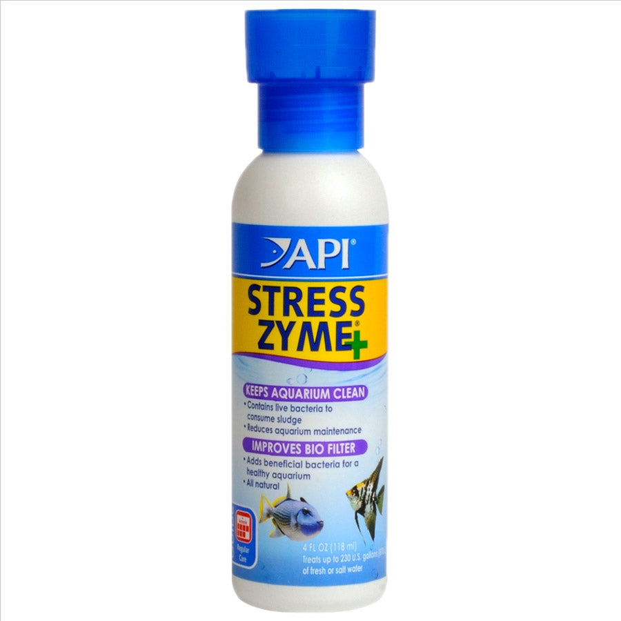 API Stress Zyme 118ml Improves Biological Filtration - Reduces Sludge