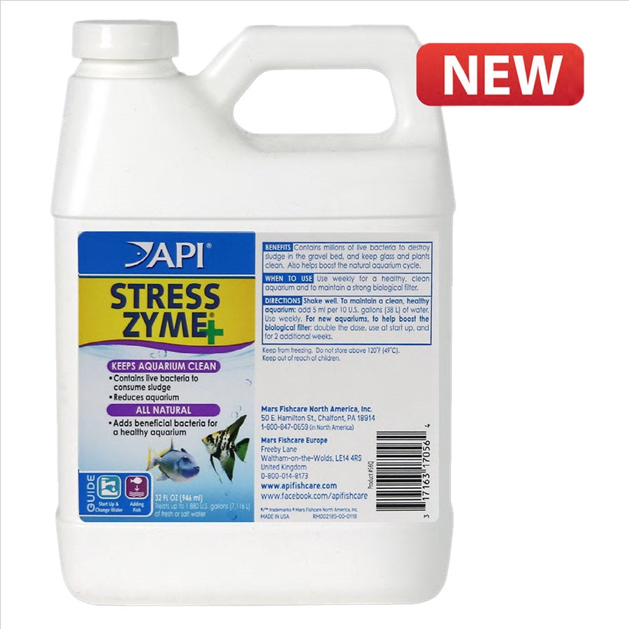 API Stress Zyme 946ml Improves Biological Filtration - Reduces Sludge