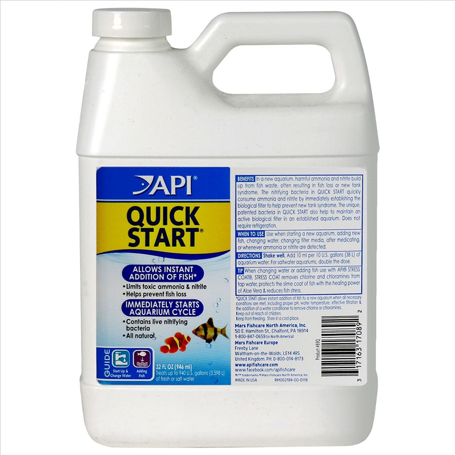 API Quick Start 946ml for a new tank Quickstart Cycle