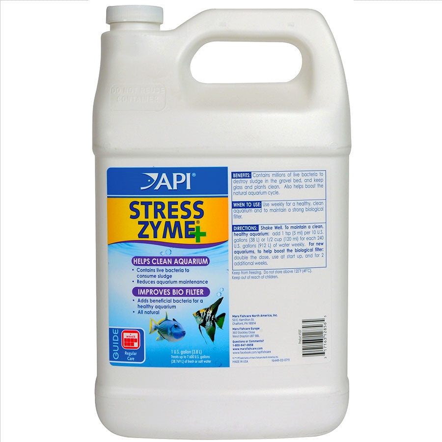 API Stress Zyme 3.8l Improves Biological Filtration - Reduces Sludge