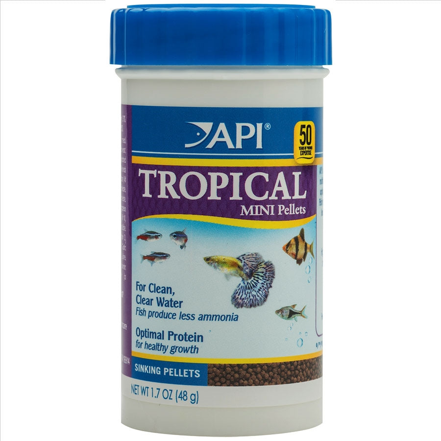 API Tropical Mini Pellets 48g Fish Food