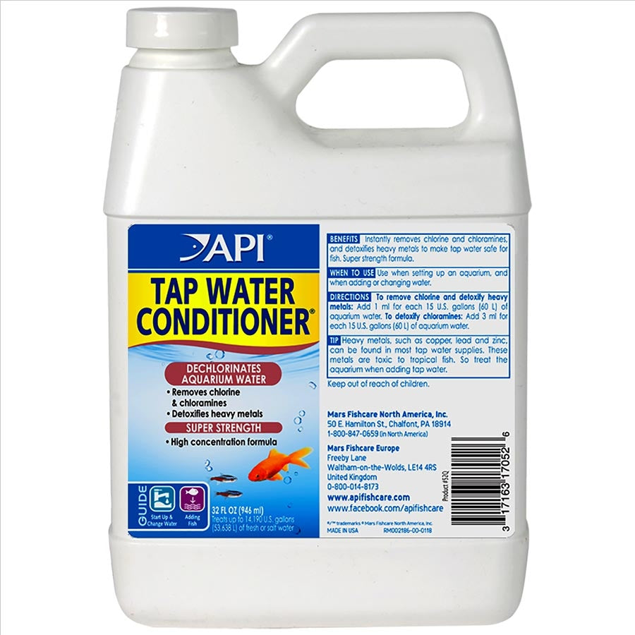 API Tap Water Conditioner 946ml - Makes tap water safe