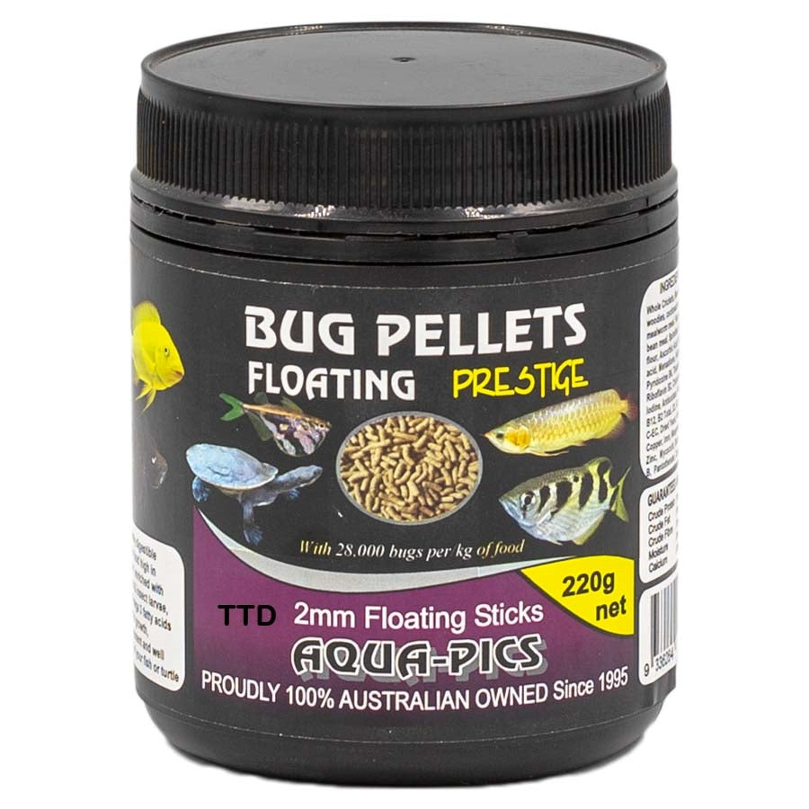 Aqua-Pics Bug Pellets Floating 2mm 220g (600ml tub)