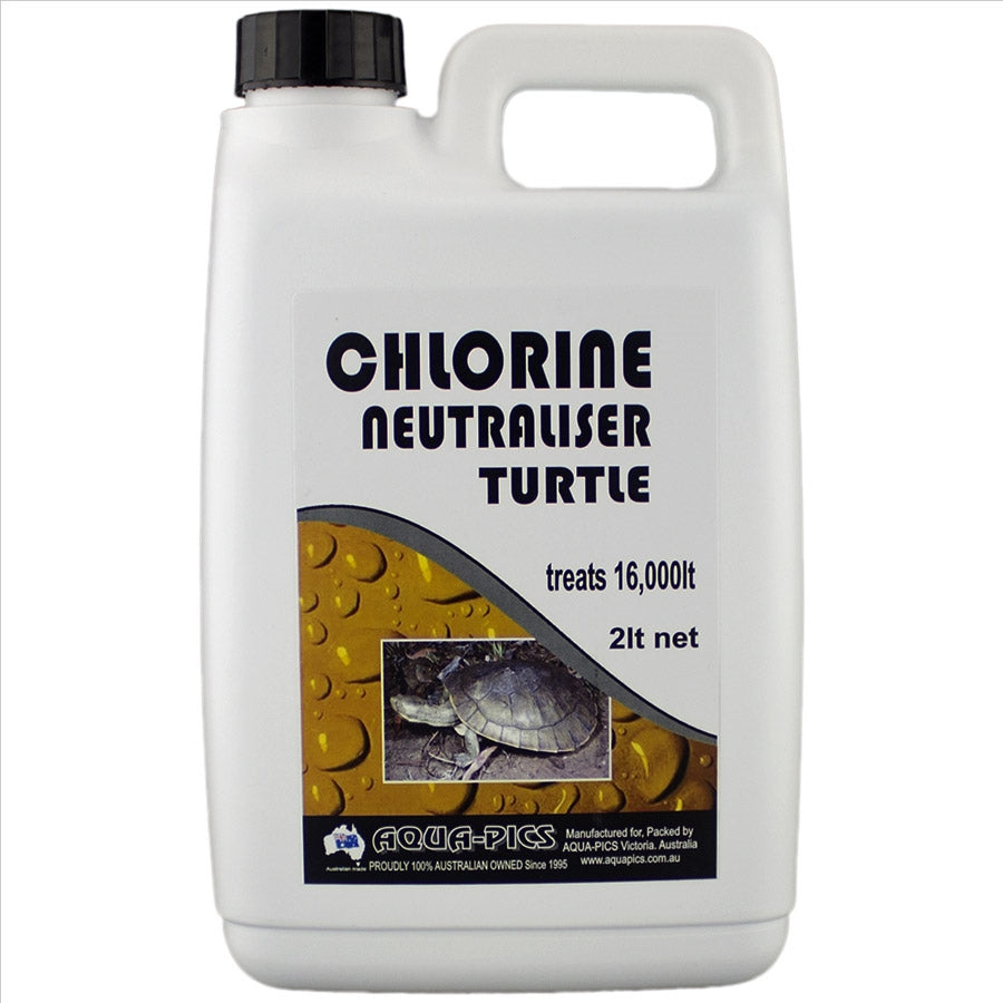 Aqua-Pics Turtle Chlorine Neutraliser 2 Litre (Treats 16000l)