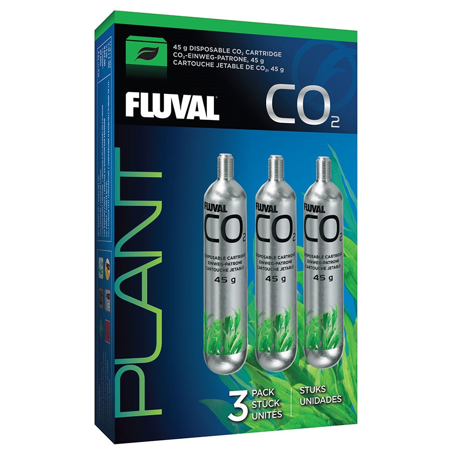 Fluval 3 Pack 45g Disposable CO2 Cartridges - In store pick up only