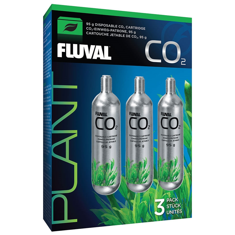 Fluval 3 Pack 95g Disposable CO2 Cartridges - In store pick up only