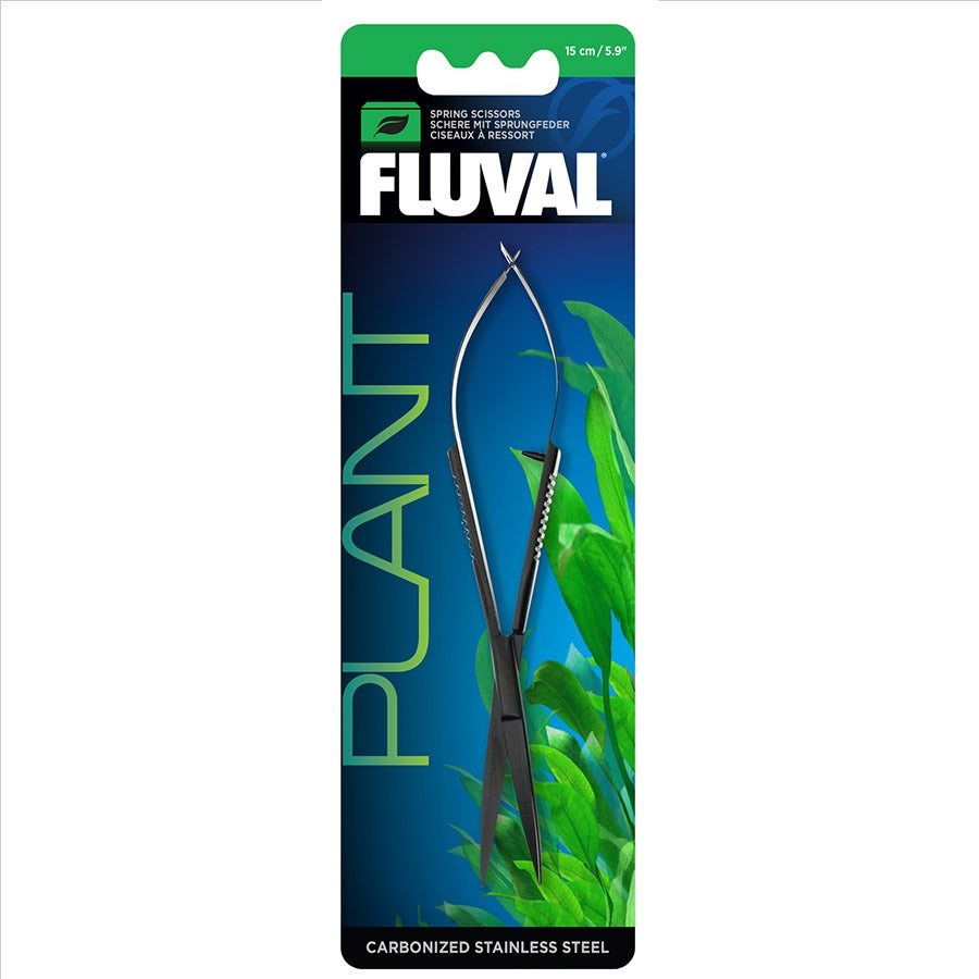 Fluval Spring Scissors - 15cm Carbonised Stainless Steel