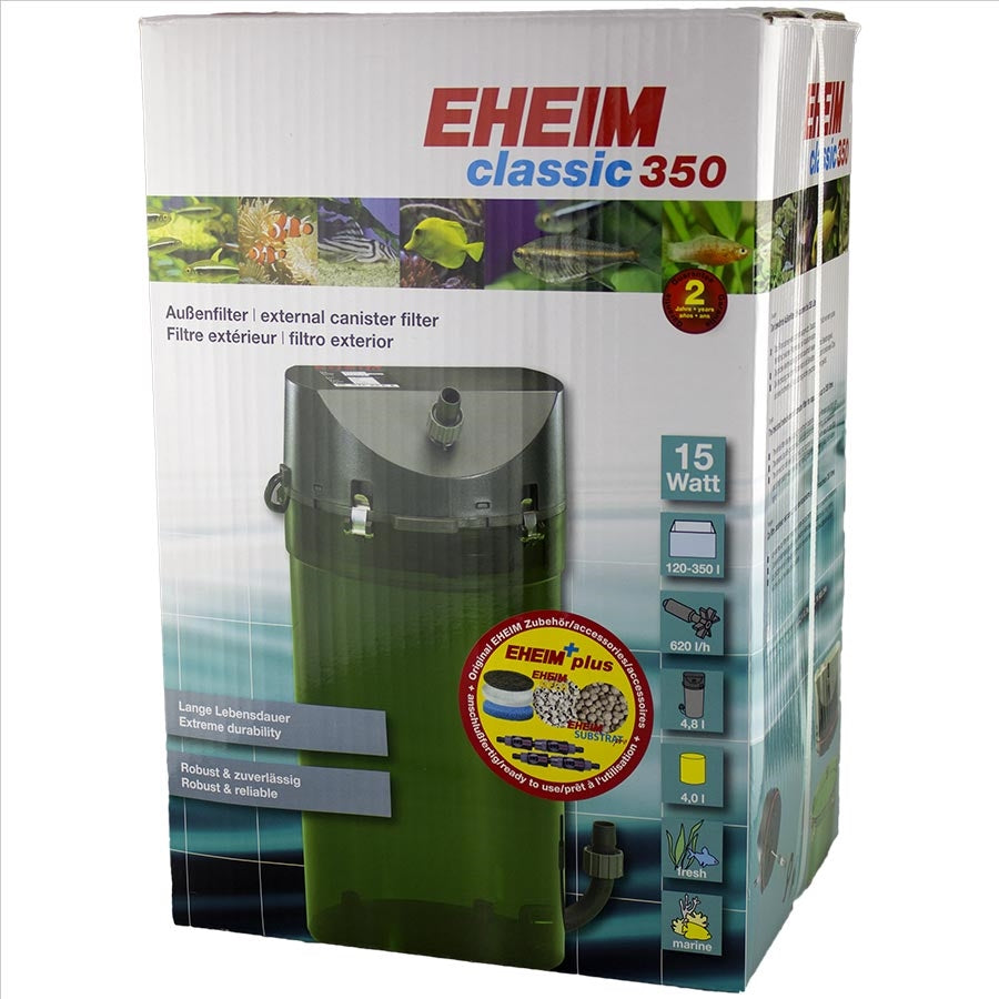 Eheim Classic 350 - 2215 (With Sponge and Bio Media) Canister Filter