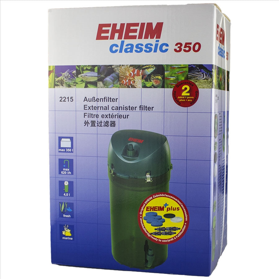 Eheim Classic 350 - 2215  (With Sponge Media) Canister Filter