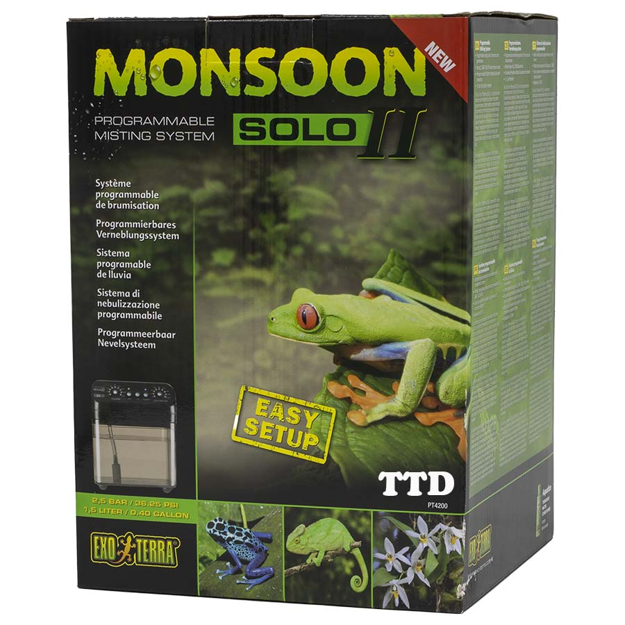 Exo Terra Monsoon Solo II - Reptile Mister - New Model