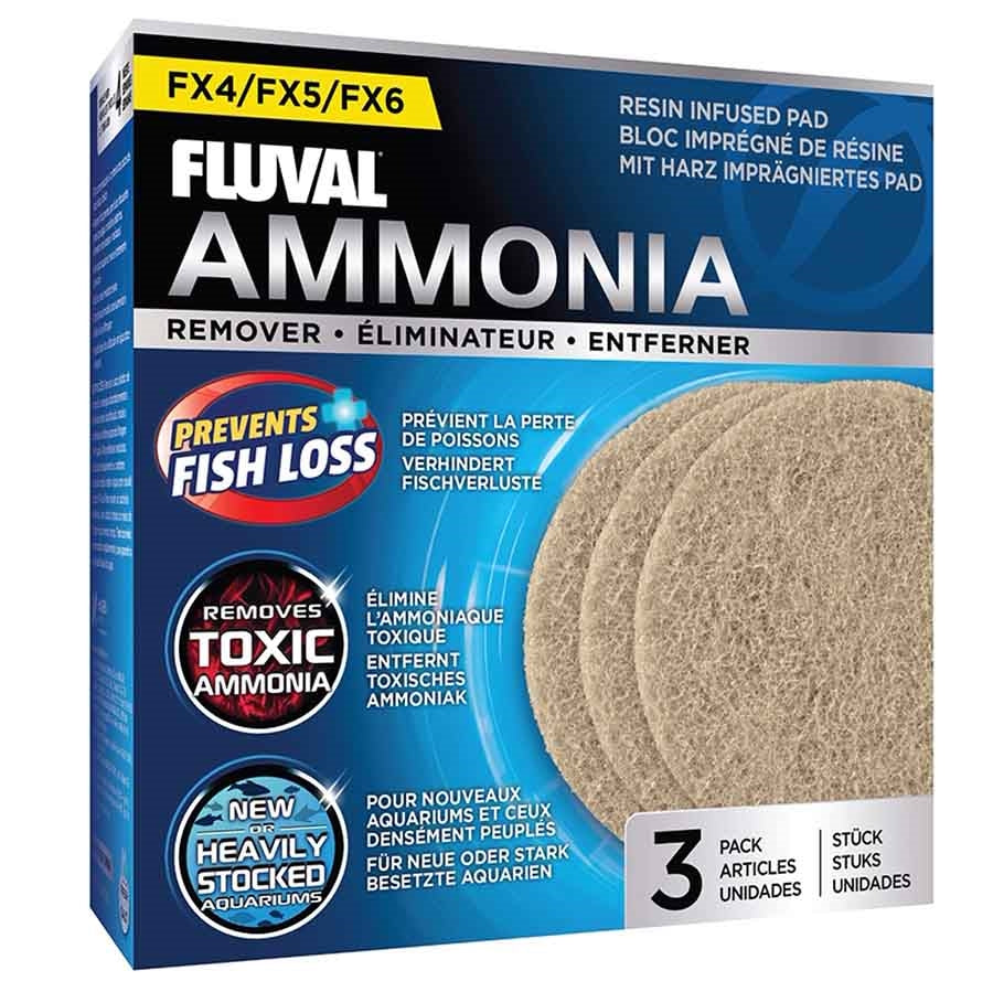 Fluval Ammonia Remover 3 Pack Pad Foam for FX4, FX5 and FX6 Canister Filters