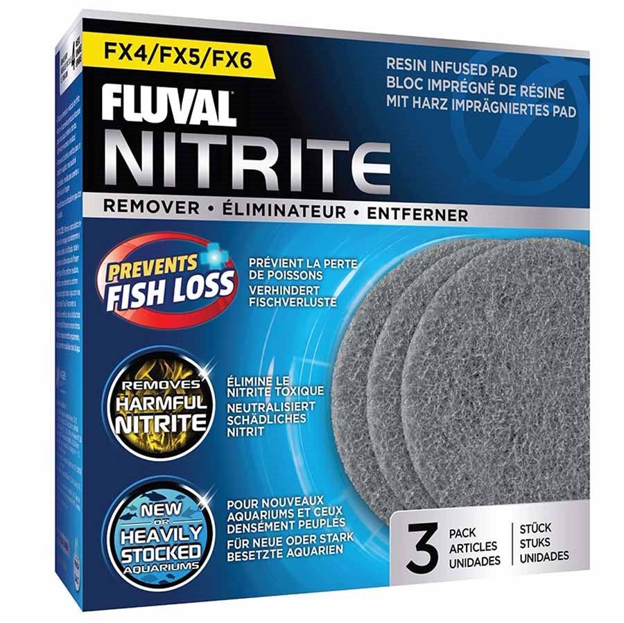 Fluval Nitrite Remover 3 Pack Pad Foam for FX4, FX5 and FX6 Canister Filters