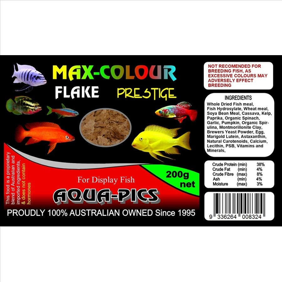Aqua-Pics Max Colour Flake Food 200g