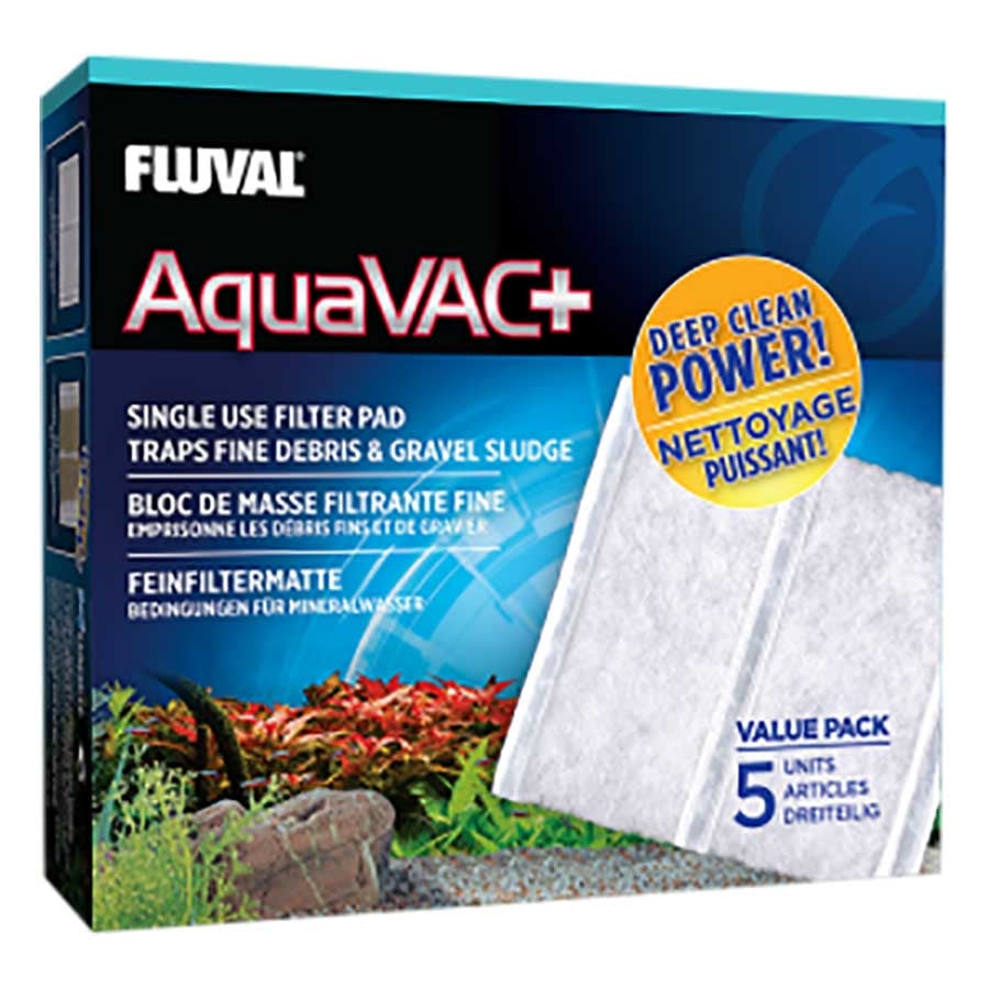 Fluval AquaVac+ Replacement Filter Pads - 5 Pack