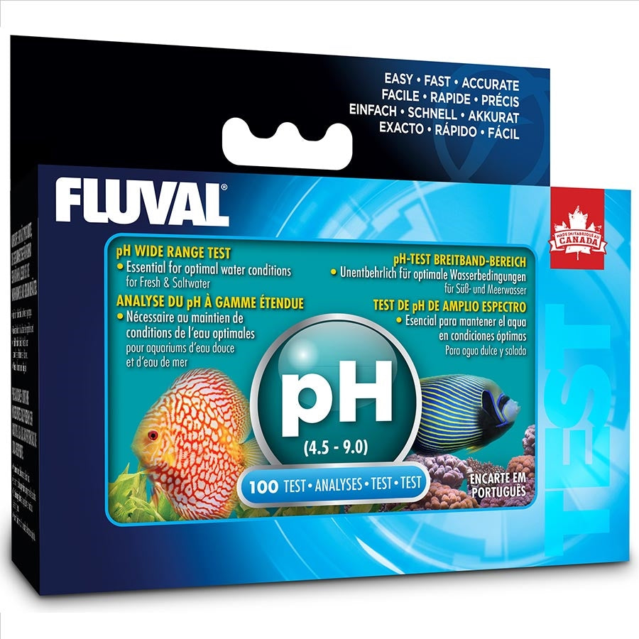 Fluval Wide Range pH Test Kit (100 tests) Ph4.5-9 Range