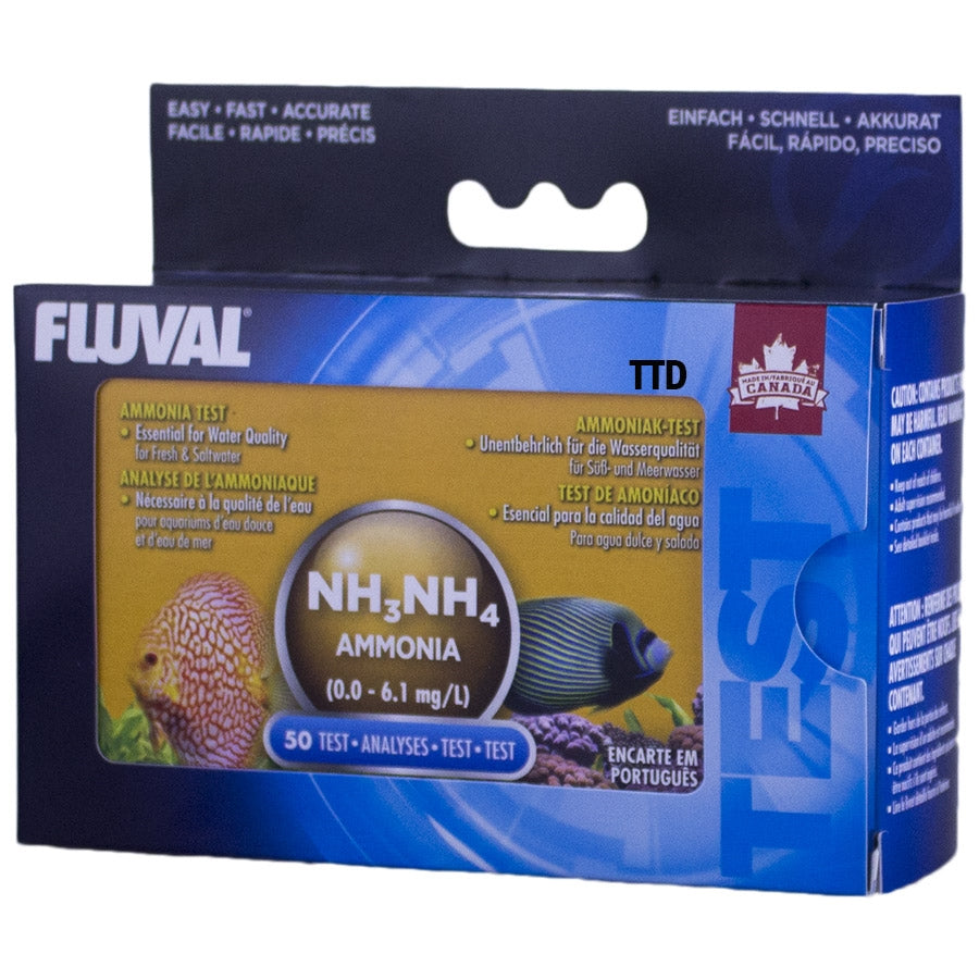 Fluval Ammonia Test Kit (50 tests) Range 0.0-6.1mg/L