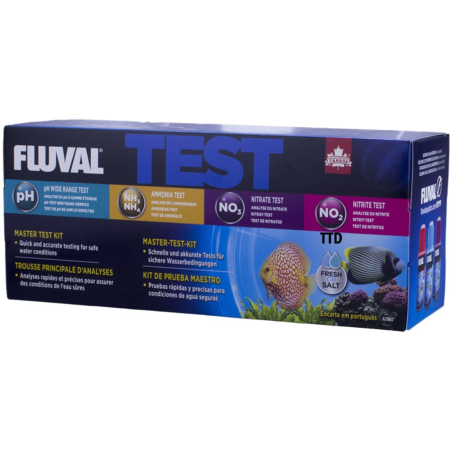 Fluval Master Test Kit - pH, Ammonia, Nitrite and Nitrate