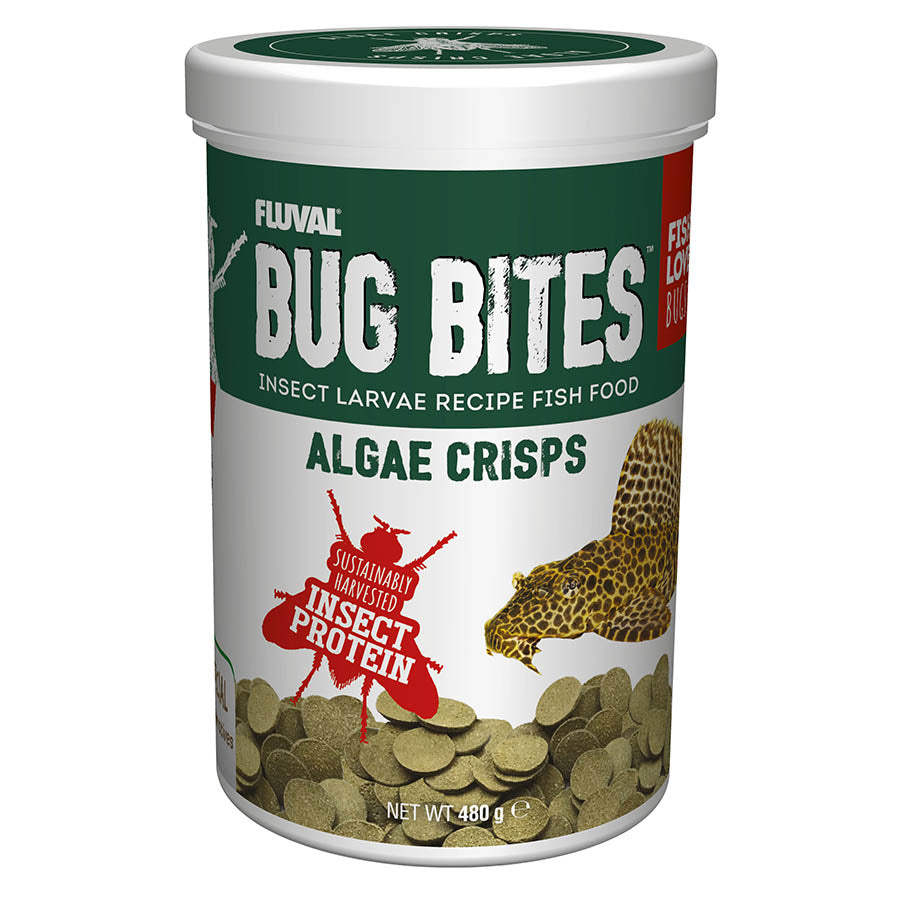 Fluval 480g Bug Bites Algae Wafers Fish Food