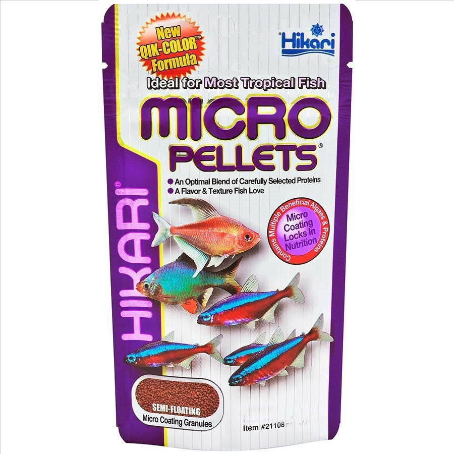 Hikari Tropical Micro Pellets 80g With Qik Colour