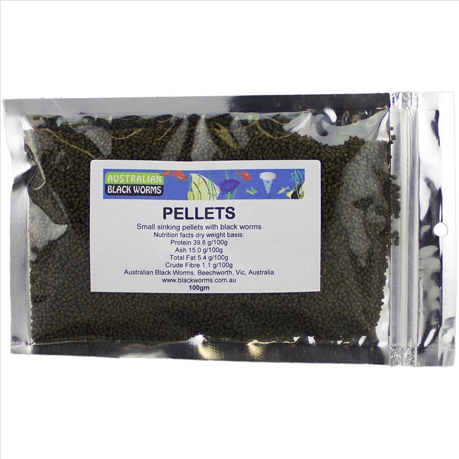 Australian Black Worms 100g Pellet 2mm