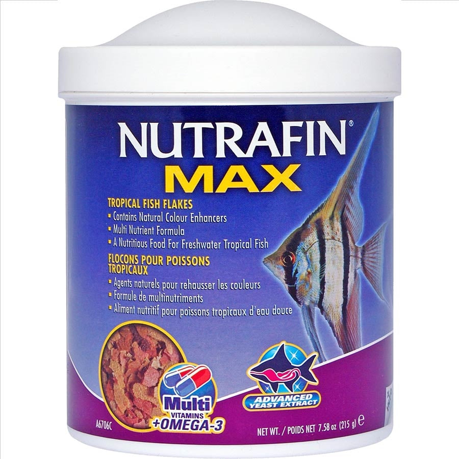 Nutrafin Max Tropical Fish Food Flakes 215g
