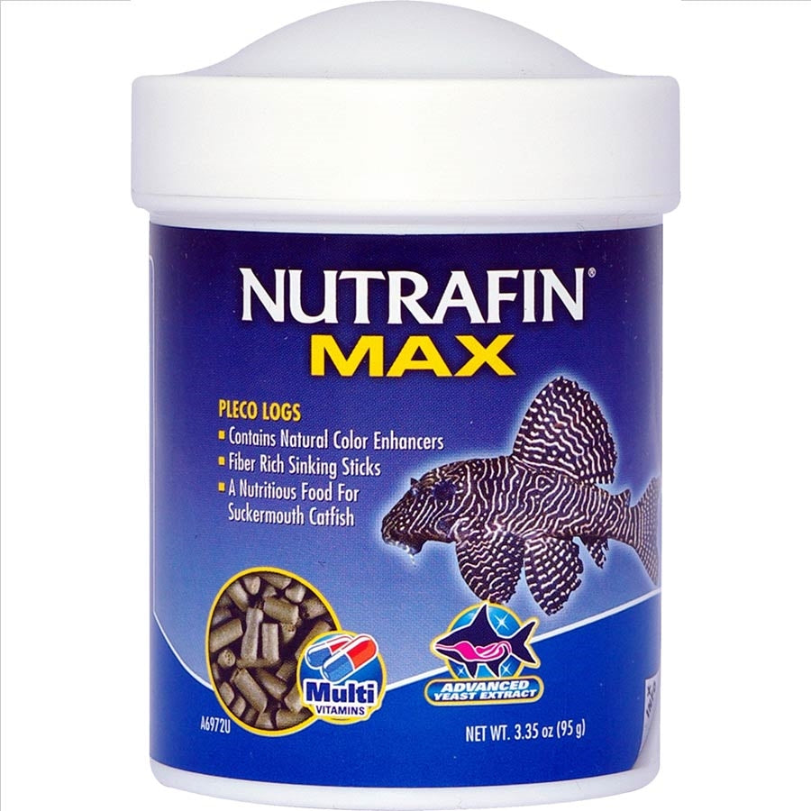 Nutrafin Max Pleco Algae Logs 95g Catfish Food