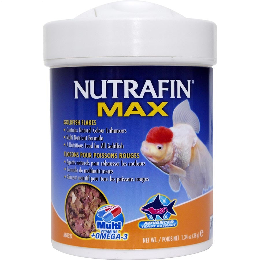 Nutrafin Max Goldfish Flakes 38g Fish Food