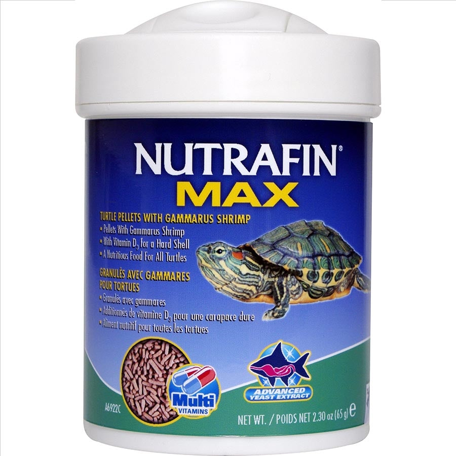 Nutrafin Max Turtle Pellets With Gammarus Shrimp 65g