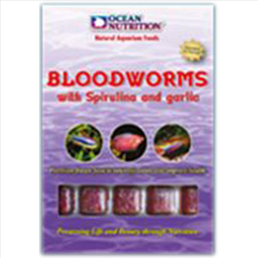 Ocean Nutrition Frozen Bloodworm With Spirulina & Garlic - In Store Pick up only!