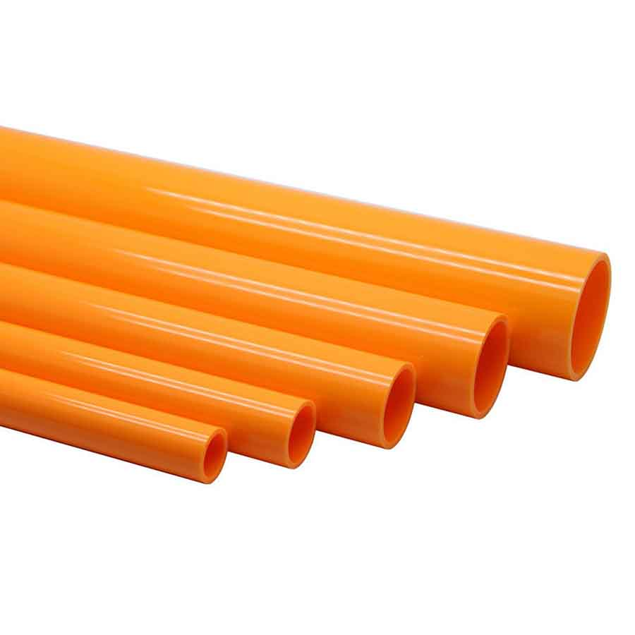 Sanking Orange DIN UPVC Pipe Per Meter - 20mm, 25mm, 32mm