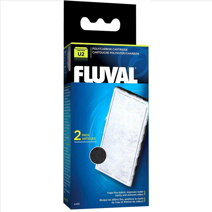 Fluval U2 Poly and Carbon Cartridge - Pack of 2