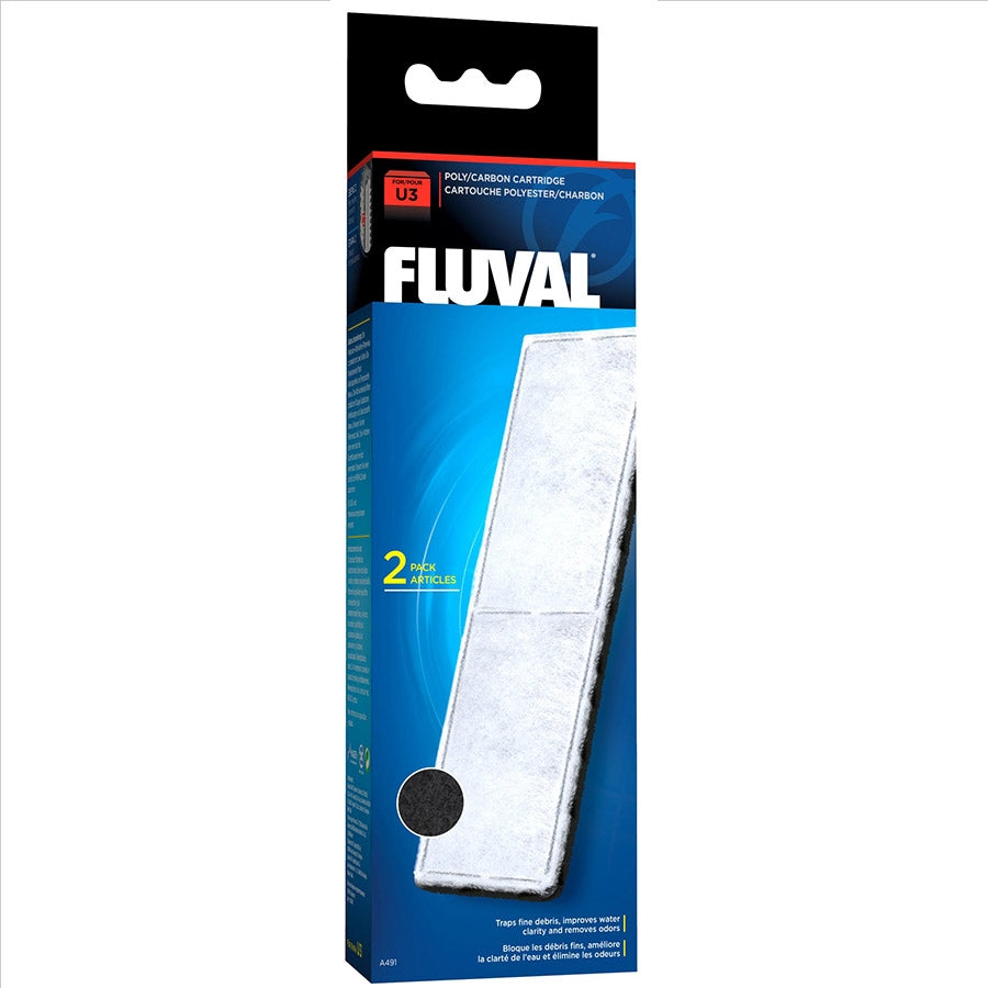 Fluval U3 Poly and Carbon Cartridge - Pack of 2