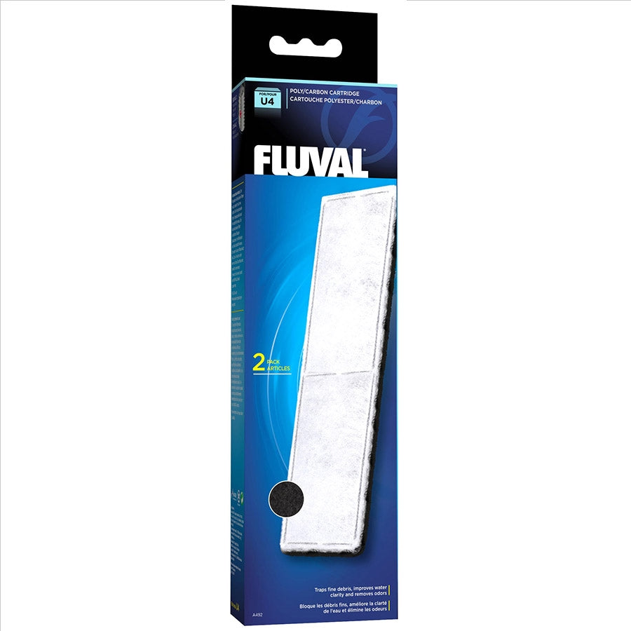 Fluval U4 Poly and Carbon Cartridge - Pack of 2