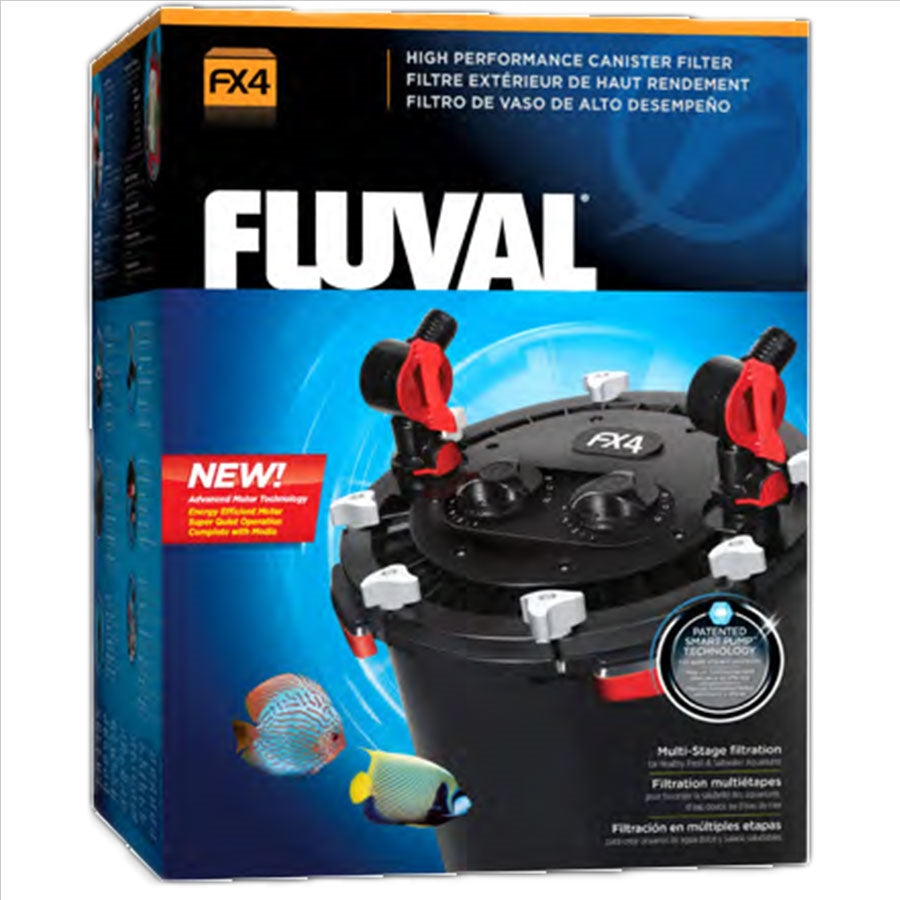 Fluval FX4 2650lph Canister Filter for aquarium tanks up to 1000 litres