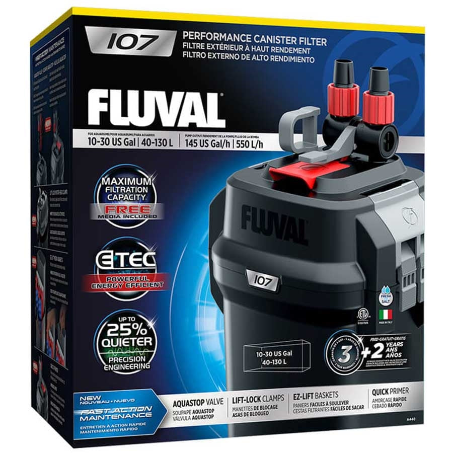 Fluval 107 Performance Canister Filter, up to 130 L Aquarium