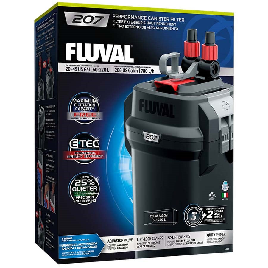 Fluval 207 Performance Canister Filter, up to 220 L Aquarium