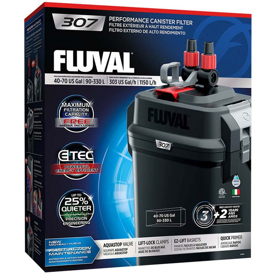 Fluval 307 Performance Canister Filter, up to 330 L Aquarium
