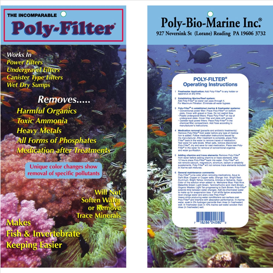 Poly Filter 20cm X 10cm (8 in X 4 in) Polyfilter