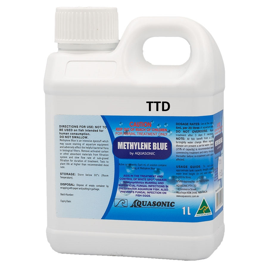 Aquasonic Methylene Blue 1 Liter