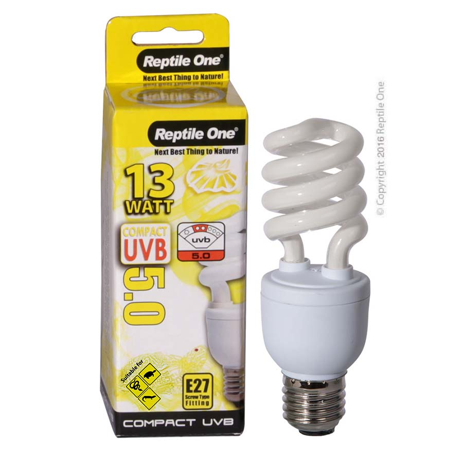 Reptile One Compact UVB Bulb 13W UVB 5.0 E27 Fitting